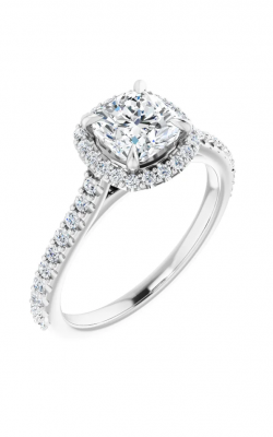 Sharif Essentials Collection Halo Engagement Ring 123243 product image