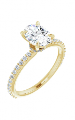 Sharif Essentials Collection Accented Engagement Ring 123305 product image