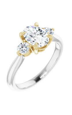 Sharif Essentials Collection Three Stones Engagement Ring 123886 product image