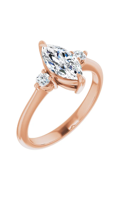 Sharif Essentials Collection Three Stones Engagement Ring 124088 product image