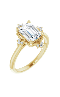 Sharif Essentials Collection Accented Engagement Ring 124277 product image