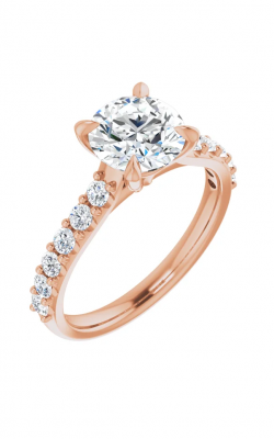 Sharif Essentials Collection Accented Engagement Ring 123651 product image