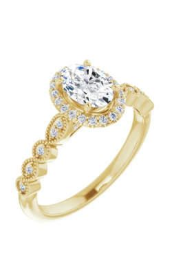 Sharif Essentials Collection Halo Engagement Ring 123385 product image