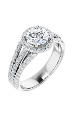 Sharif Essentials Collection Halo Engagement Ring 123567 product image