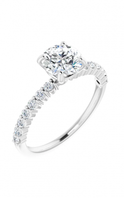 Princess Jewelers Collection Accented Engagement Ring 123676 product image