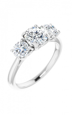 Princess Jewelers Collection Three Stones Engagement Ring 123689 product image