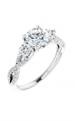 Sharif Essentials Collection Accented Engagement Ring 123699 product image