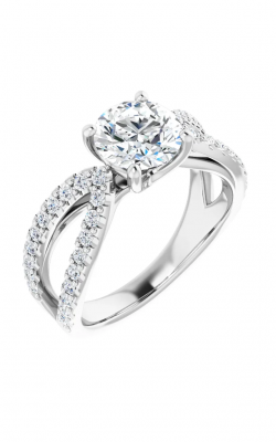 Princess Jewelers Collection Accented Engagement Ring 123748 product image