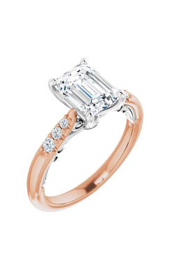 Sharif Essentials Collection Accented Engagement Ring 123765 product image