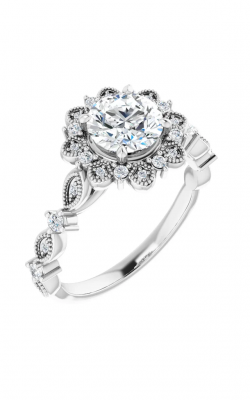 Sharif Essentials Collection Halo Engagement Ring 123782 product image