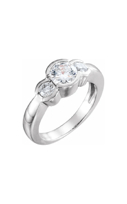 Sharif Essentials Collection Three Stones Engagement Ring 120411 product image