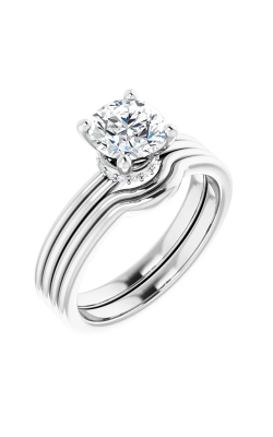 Sharif Essentials Collection Accented Engagement Ring 122059 product image