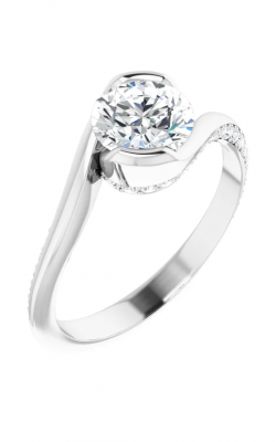 Sharif Essentials Collection Accented Engagement Ring 122063 product image