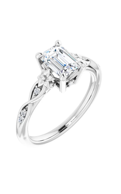 DC Floral Engagement Ring 124642 product image