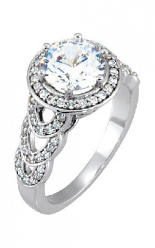 Stuller Halo Engagement Ring 121674 product image