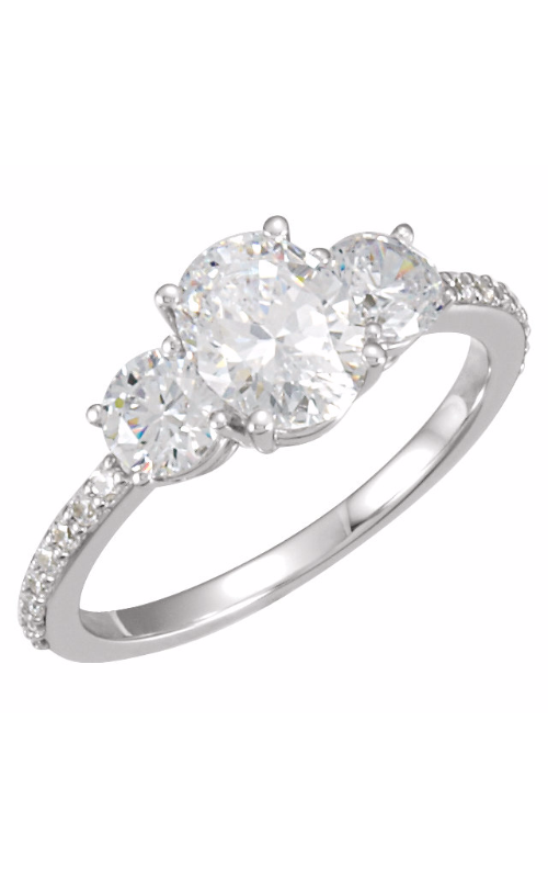 Stuller Three Stone Engagement Ring 121867 product image
