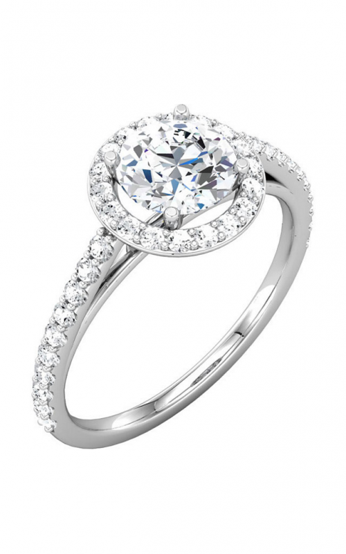 Sharif Essentials Collection Halo Engagement ring 68873 product image