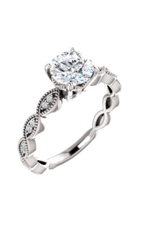 Stuller Sidestone Engagement Ring 123134 product image