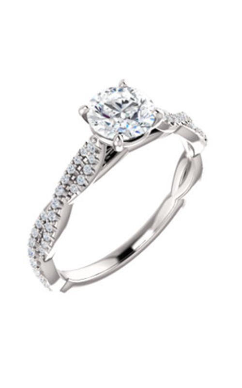 Stuller Sidestone Engagement Ring 123021 product image