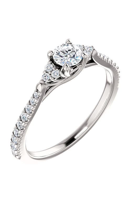 Stuller Sidestone Engagement Ring 123457 product image