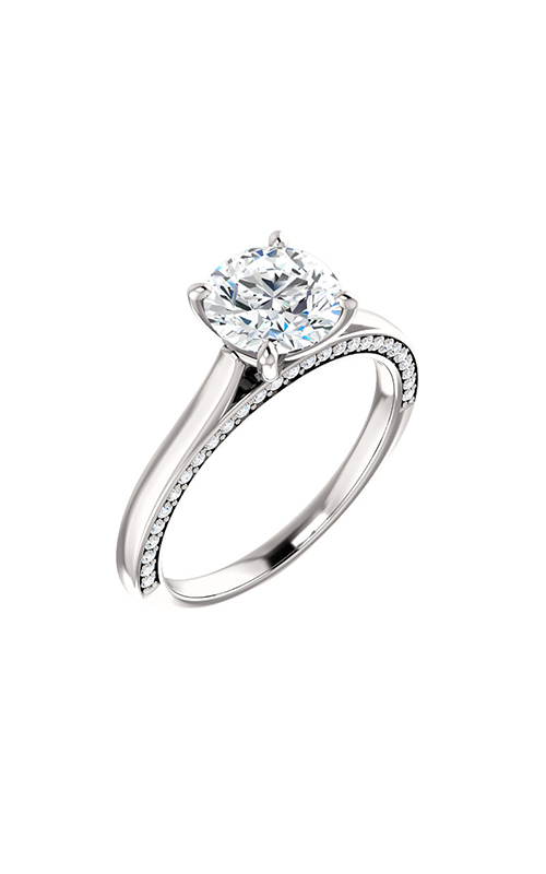 Stuller Sidestone Engagement Ring 123345 product image