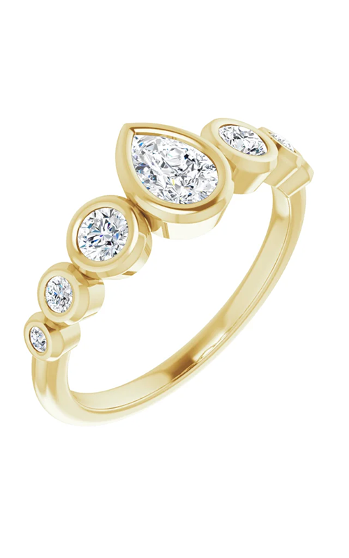 DC Bezel Engagement ring 124658 product image