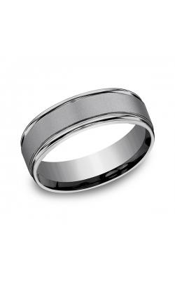 Grey Tantalum Comfort-Fit Wedding Band RECF7702SGTA10 product image