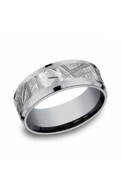 Tantalum and Meteorite Comfort-fit Design Wedding Band CF128843MTGTA07 product image