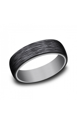 Grey Tantalum and Black Titanium ring in ring style Comfort-fit wedding band RIRCF1265399BKTGTA07.5 product image
