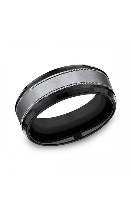 Tantalum and Black Titanium Comfort-fit Design Wedding Band CF108013SBKTGTA10 product image