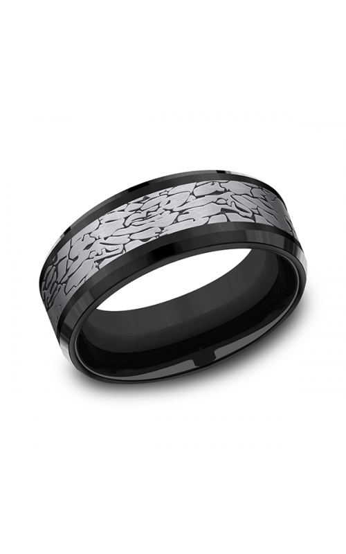 Tantalum and Black Titanium Comfort-fit Design Wedding Band CF108374BKTGTA10 product image