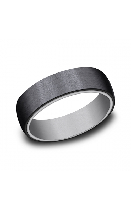 Grey Tantalum and Black Titanium ring in ring style Comfort-fit wedding band RIRCF126561BKTGTA06 product image