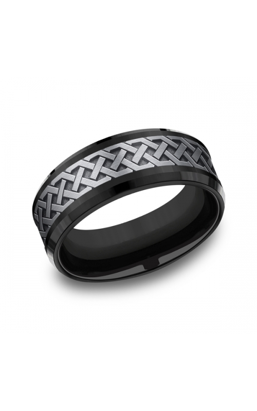 Grey Tantalum and Black Titanium two-tone Comfort-fit wedding band CF108361BKTGTA06 product image