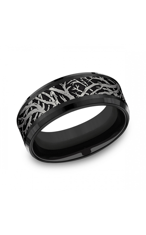 Tantalum and Black Titanium Comfort-fit Design Wedding Band CFBP108611BKTGTA06 product image