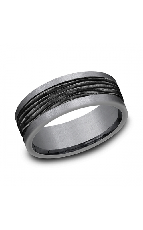 Tantalum and Black Titanium Comfort-fit Design Wedding Band CF128743BKTGTA06 product image