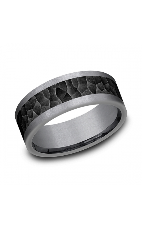 Tantalum and Black Titanium Comfort-fit Design Wedding Band CF128753BKTGTA07 product image
