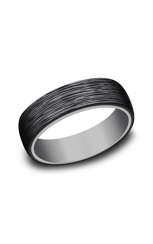 Grey Tantalum and Black Titanium ring in ring style Comfort-fit wedding band RIRCF1265399BKTGTA06 product image