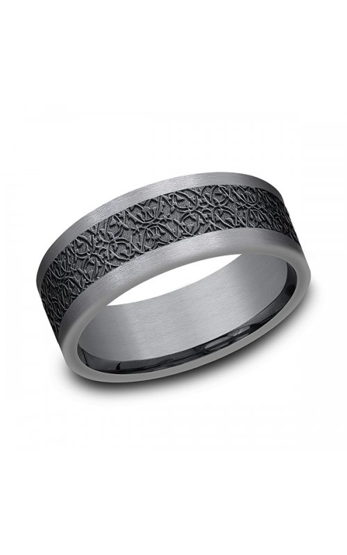 Tantalum and Black Titanium Comfort-fit Design Wedding Band CF128845BKTGTA07 product image