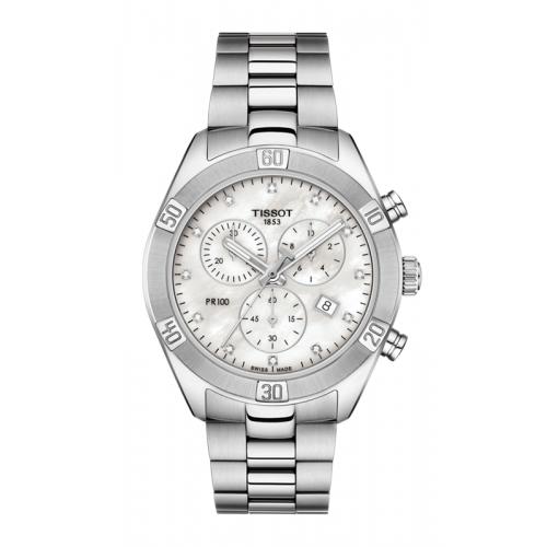 Tissot PR 100 Sport Chic Chronograph Watch T1019171111600 product image