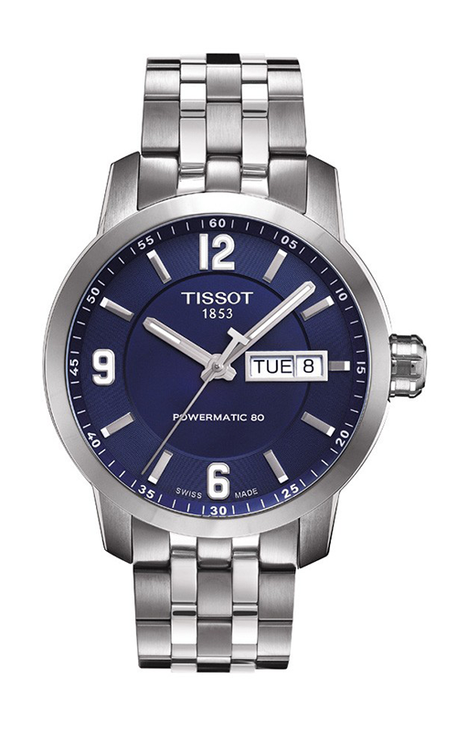 84395ca8665 Tissot PRC 200 Men s Automatic Watch with Stainless Steel Bracelet and Blue  Dial Watch T0554301104700 product