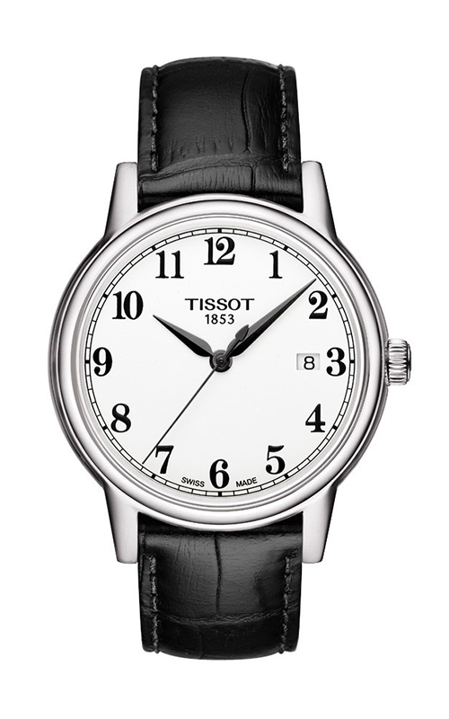 Tissot Carson Men's Quartz Watch with Black Leather Strap and Arabic Dial T0854101601200 product image