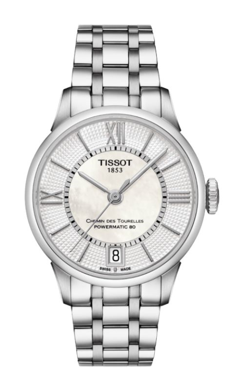 Tissot T-Classic Chemin Des Toureless Powermatic 80 Lady Watch T0992071111800 product image
