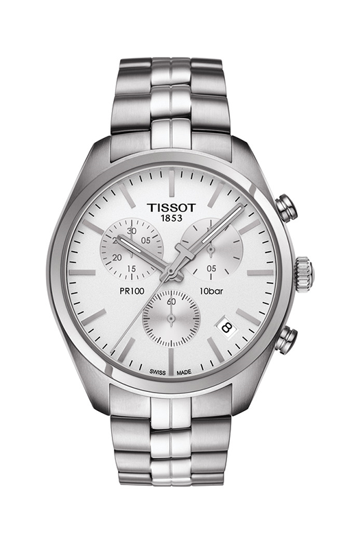 Tissot PR 100 Men's Quartz Chronograph Silver Dial with  Stainless Steel Bracelet T1014171103100 product image