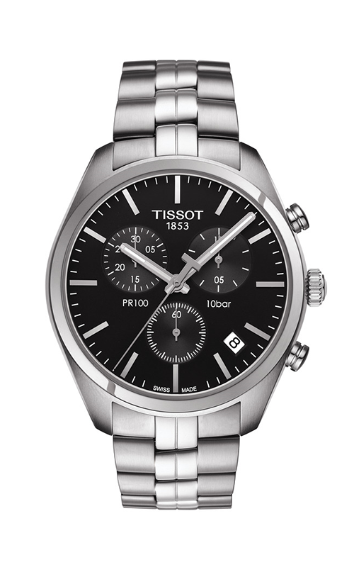 Tissot PR 100 Men's Quartz Chronograph Black Dial with Stainless Steel Bracelet T1014171105100 product image