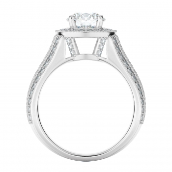 Halo Style Diamond Engagement ring  (Center Diamond Not Included)