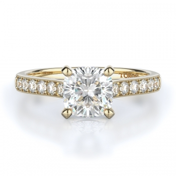 Sidestone Style Diamond Engagement ring 