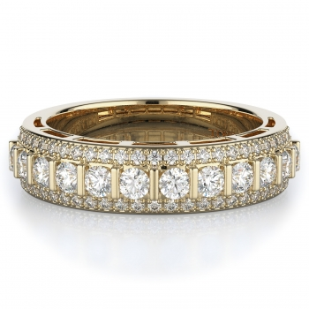 Tension, Pave Style Diamond Wedding band