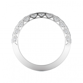 Channel, Pave Style Diamond Wedding band