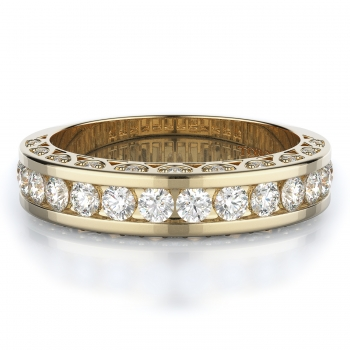 Pave, Channel Style Diamond Wedding band  | 0.82 ctw