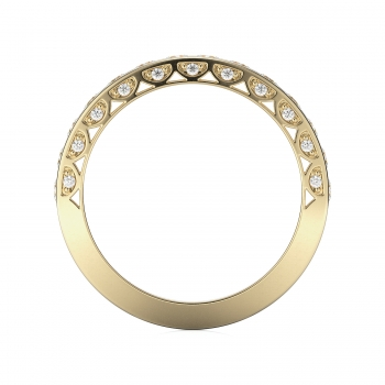 Channel, Pave Style Diamond Wedding band  | 0.82 ctw